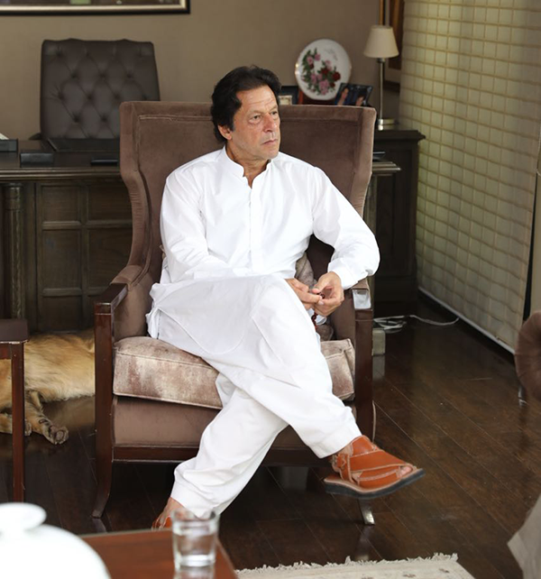 Newly elected Pakistani Prime Minister Imran Khan in 2018.