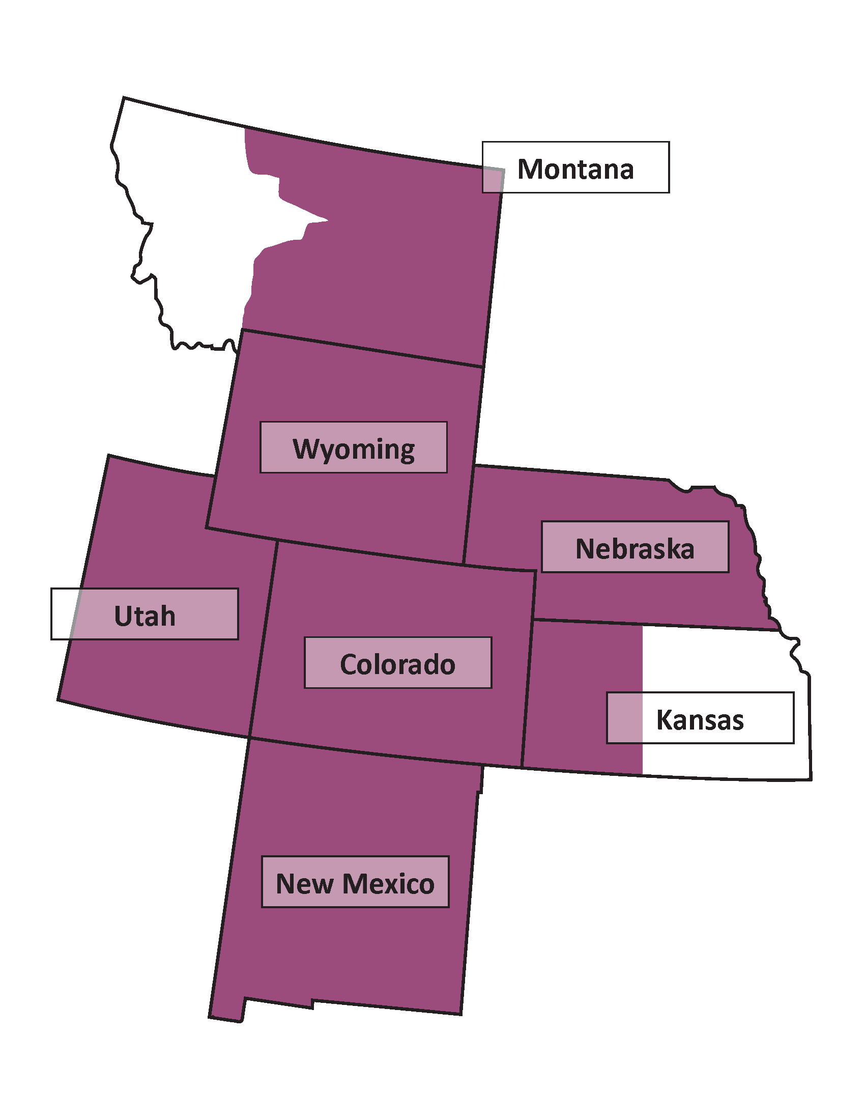 Map of the Rocky Mountain-Great Plains Region