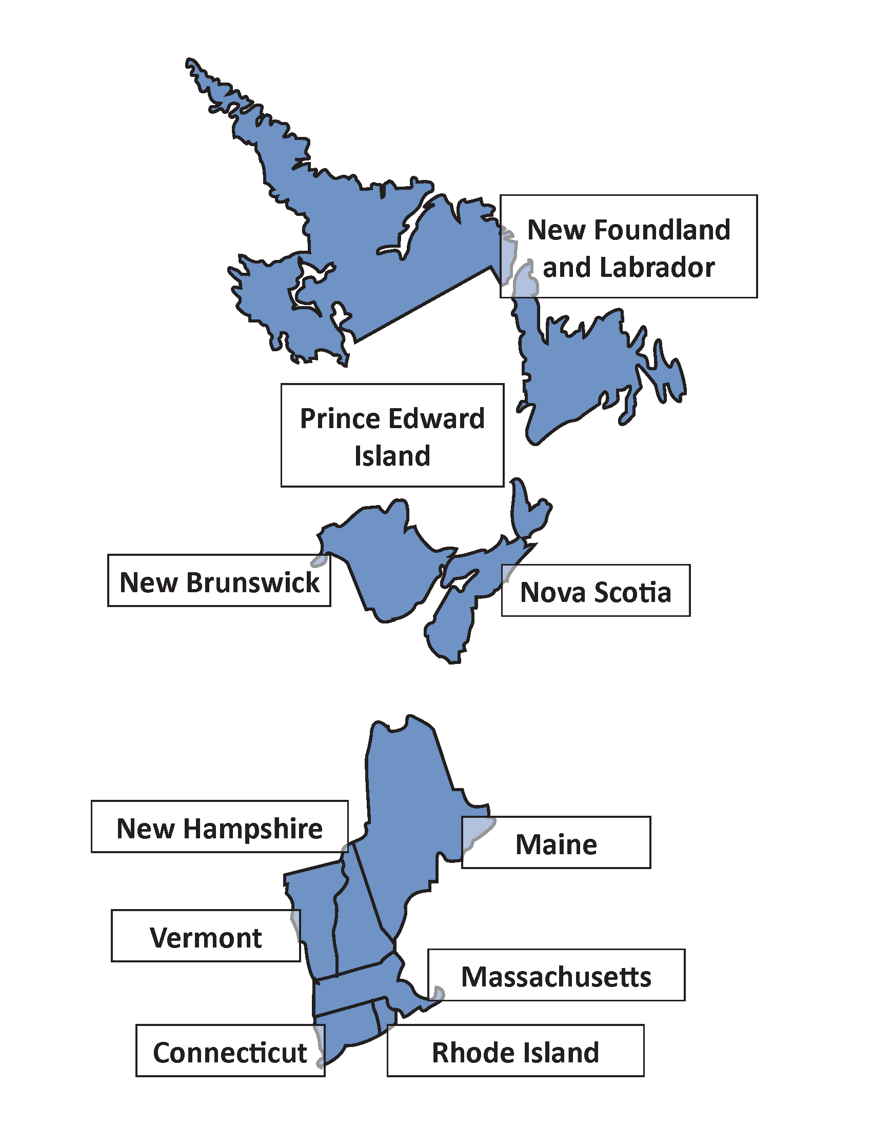 Map of the AAR New England-Maritimes Region
