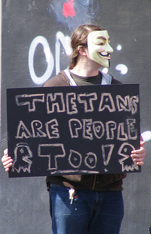 "Anonymous protestor against Scientology. By Craig Russell via <a target=""_blank"" href=""http://commons.wikimedia.org/wiki/File:2008_anti-scientology_protest,_Austin,_TX_18.jpg"">Wikimedia Commons</a>."
