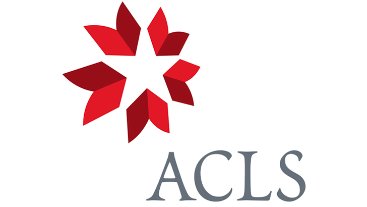 a red and white star logo with ACLS printed below