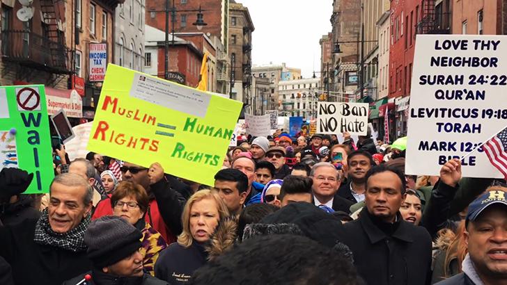 protestors in Paterson NJ