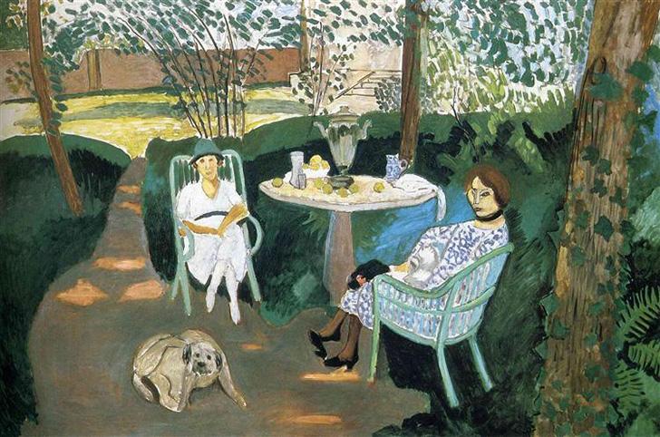 """Henri Matisse's """"Tea in the Garden"""" (1919)"""