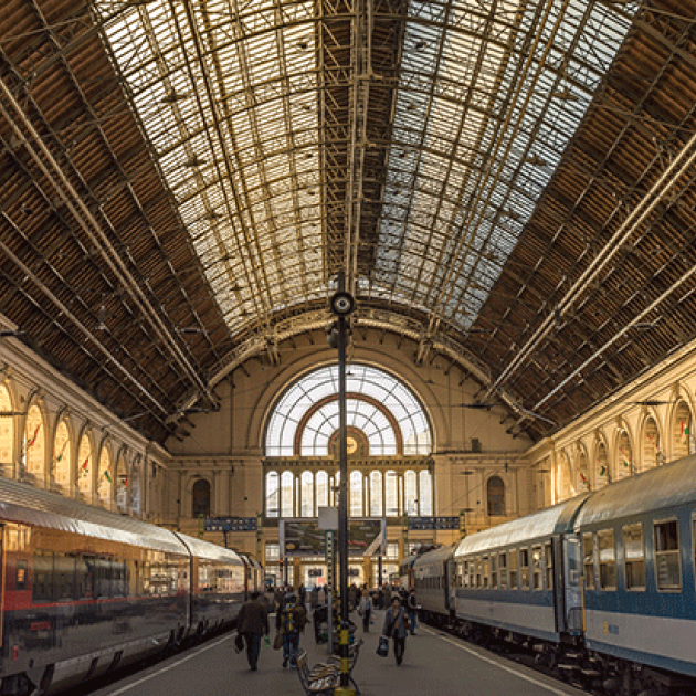 Interior of Budapest train station