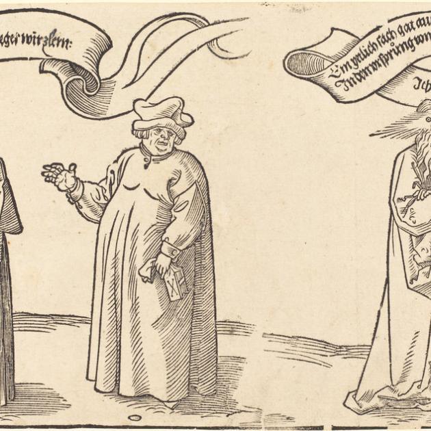 "Albrecht Dürer's ""The Teacher, the Clergyman, and Providence"""
