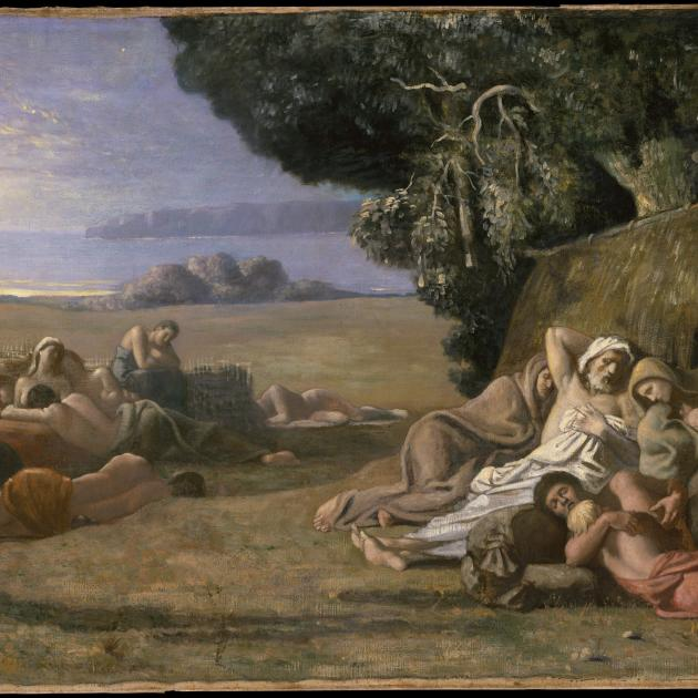 """Resting"" by Pierre Puvis de Chavannes (French, Lyons 1824–1898 Paris) ca. 1867-1870"