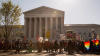Protestors for and against same-sex marriage outside the US Supreme Court on