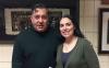 photo of Luis Leon posing with student Elaine Penagos in December 2016